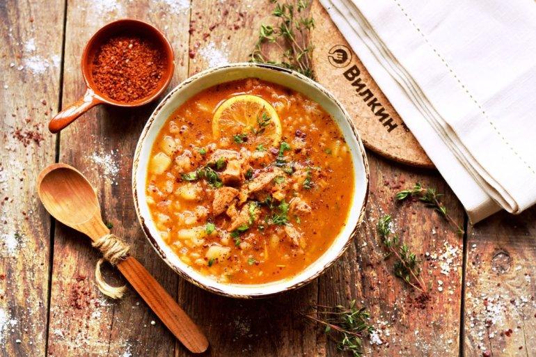 Суп харчо из курицы с рисом