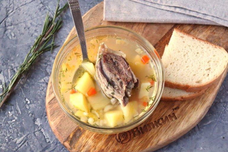 Суп из гуся с булгуром