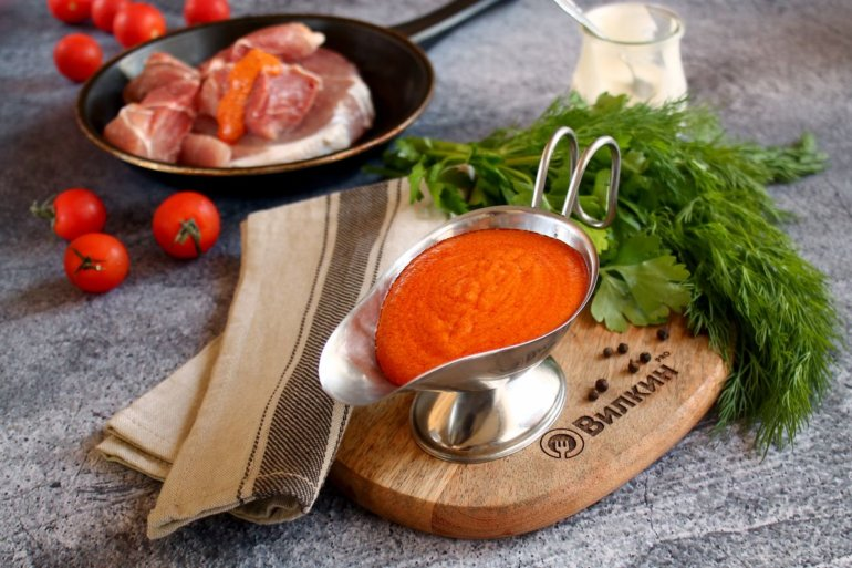 сметанно-томатный соус для любых блюд