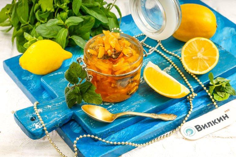 Варенье из лимонов и мяты