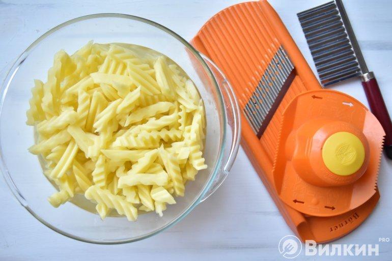 фигурная нарезка картошки