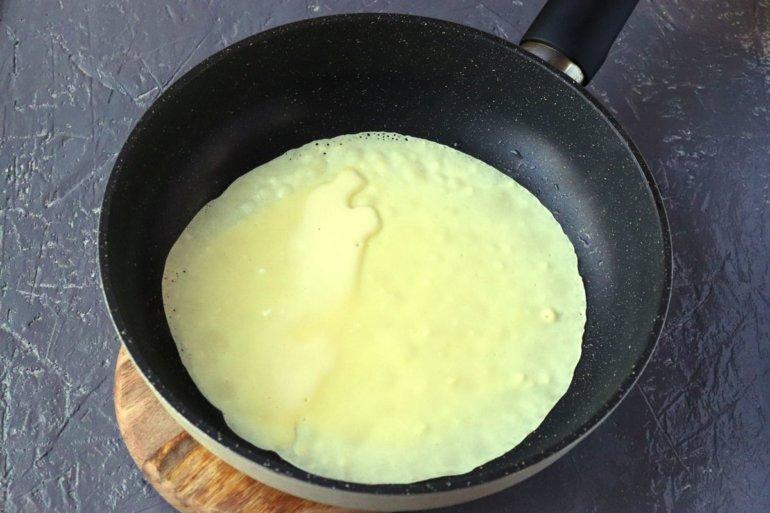 заливка в сковороду