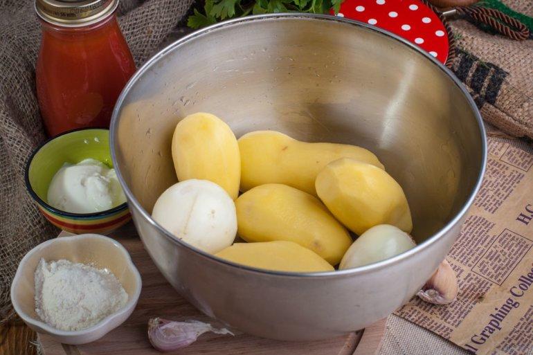 картофель и лук
