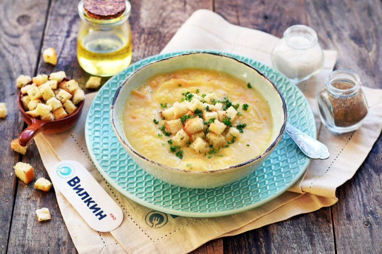 готовый суп из гороха