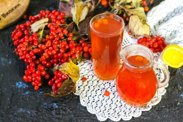 витаминный напиток из калины
