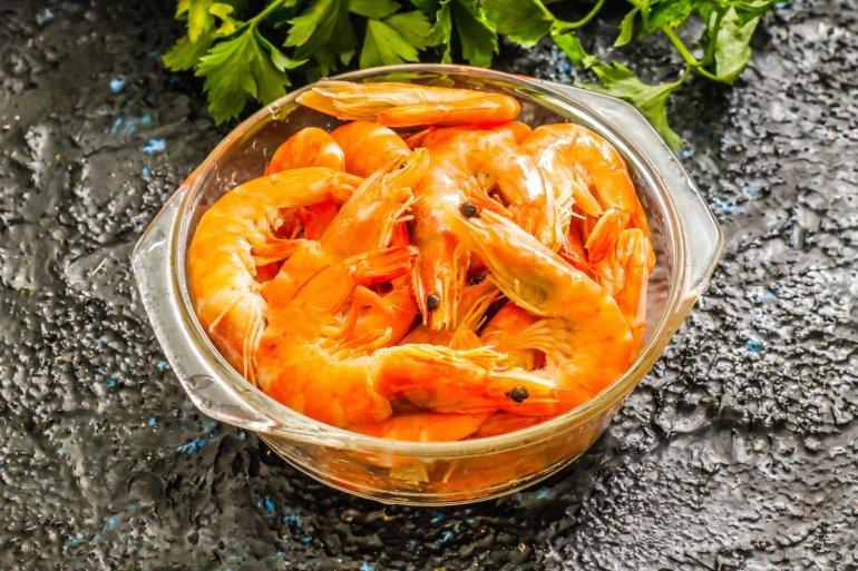 мытые морепродукты