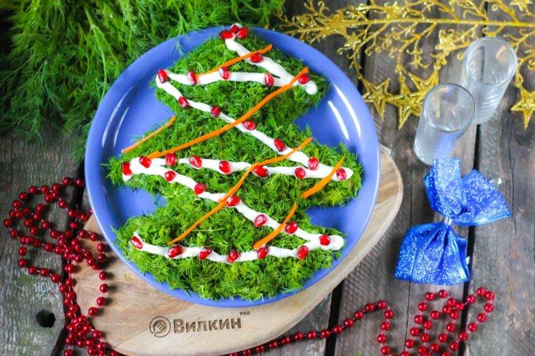 "салат ""Елка"" на новогодний стол"