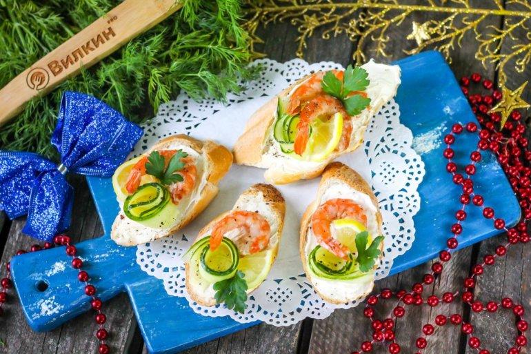 бутерброды для новогоднего стола