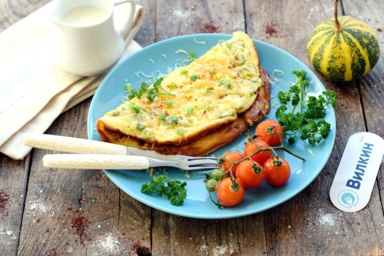 вкусный омлет из яиц на кефире