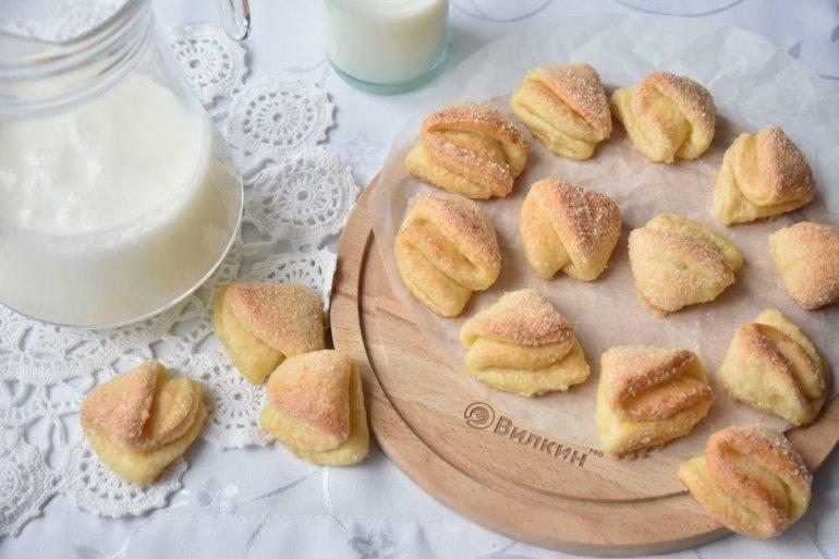 Печенье «Поцелуйчики» с творогом