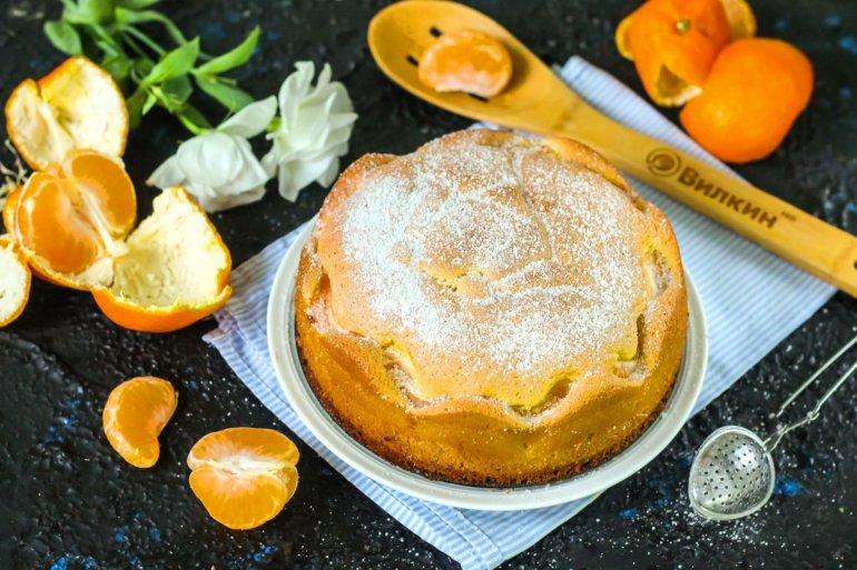 мандариновый пирог для праздничного стола