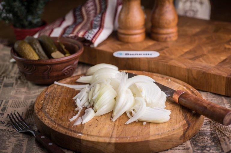 нарезанный лук