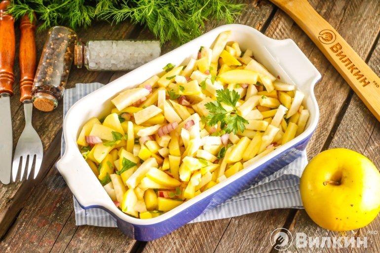 Салат из корня сельдерея и яблок