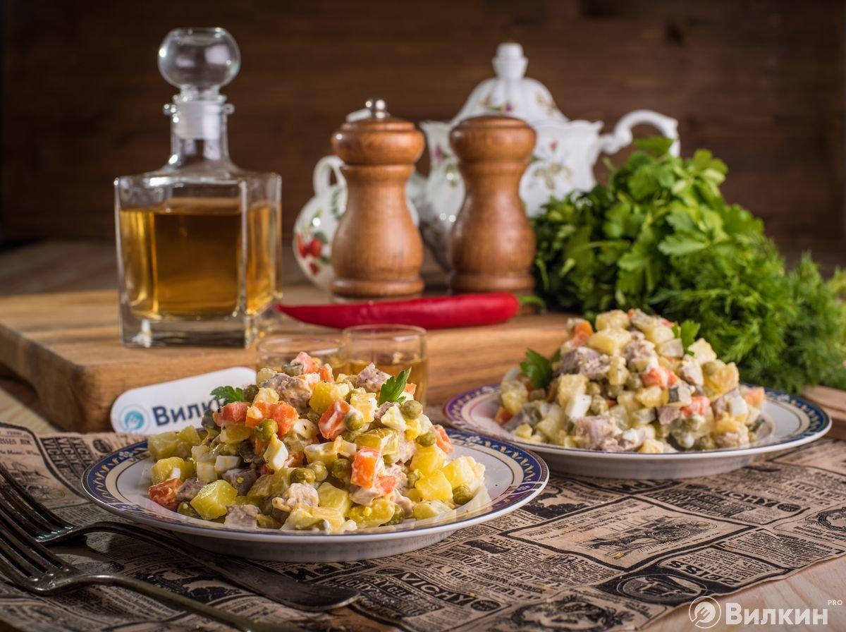 """салат """"Оливье"""" с говядиной"""