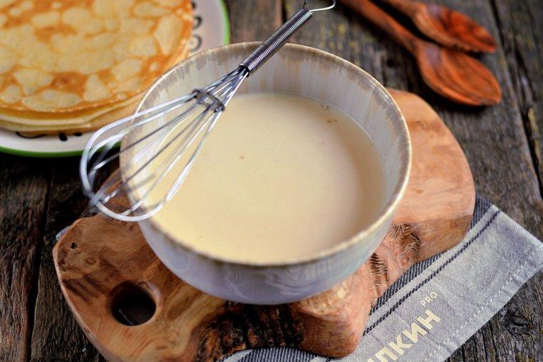 Тесто для тонких блинчиков на молоке