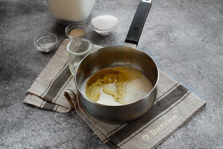 кефир и растительное масло