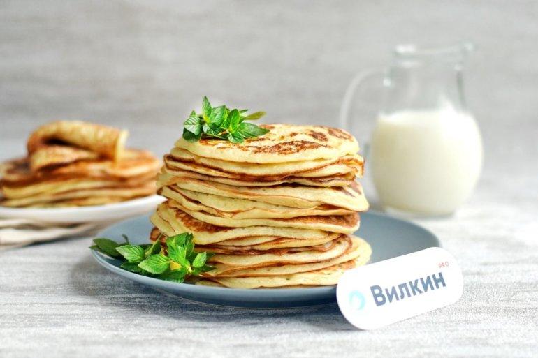 толстые блины на завтрак