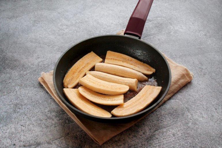 выкладка банановых ломтей
