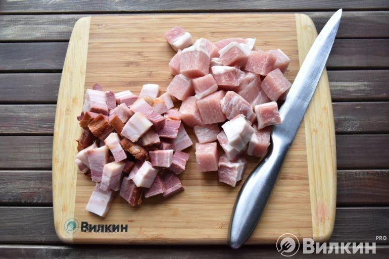 Мясо и грудинка