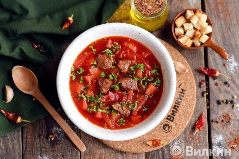борщ рецепт классический с фото с говядиной