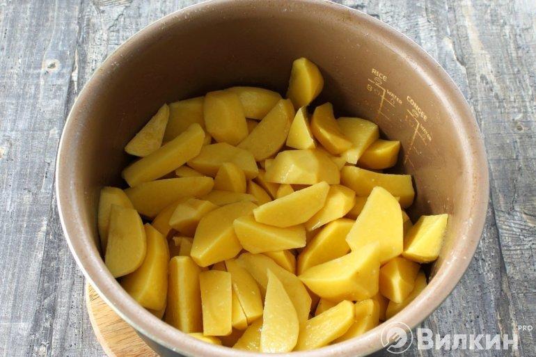 закладка картошки в чашу