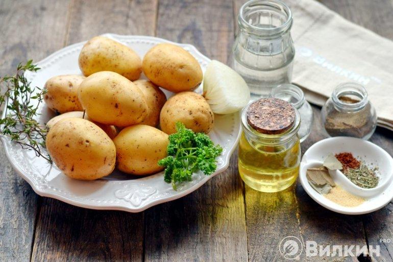 Картофельная диета с овощами