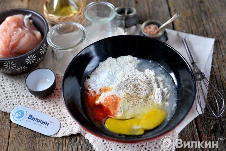 яйцо, мука и специи