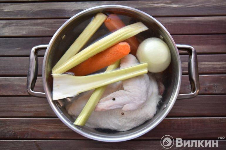 повторная закладка мяса с овощами