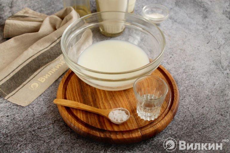 молоко с содой и уксусом