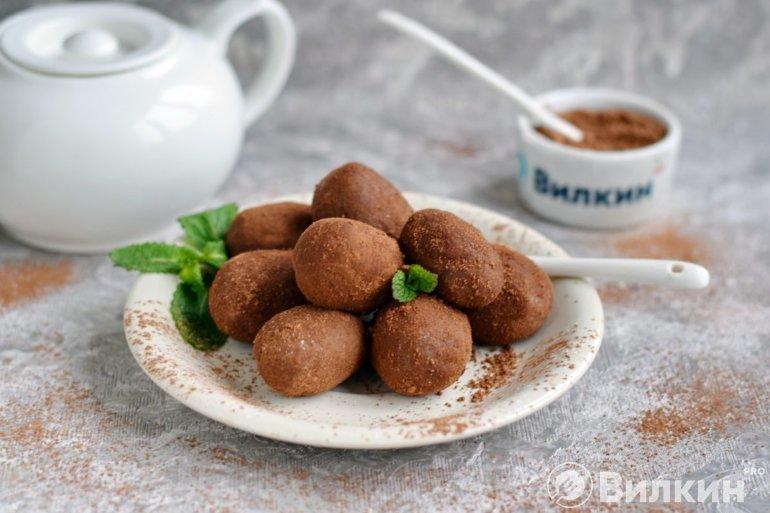 Пирожное «Картошка» из печенья со сгущенкой