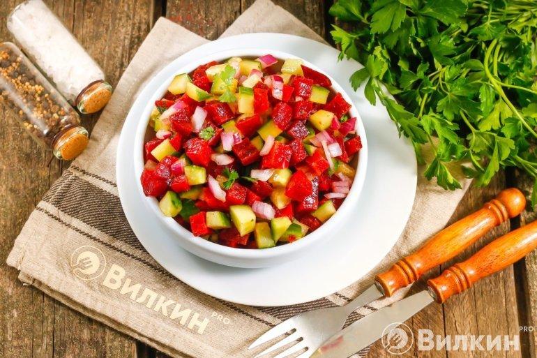 вкусный салат из вареной свеклы без майонеза