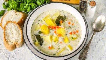 Сырный суп с плавленым сыром