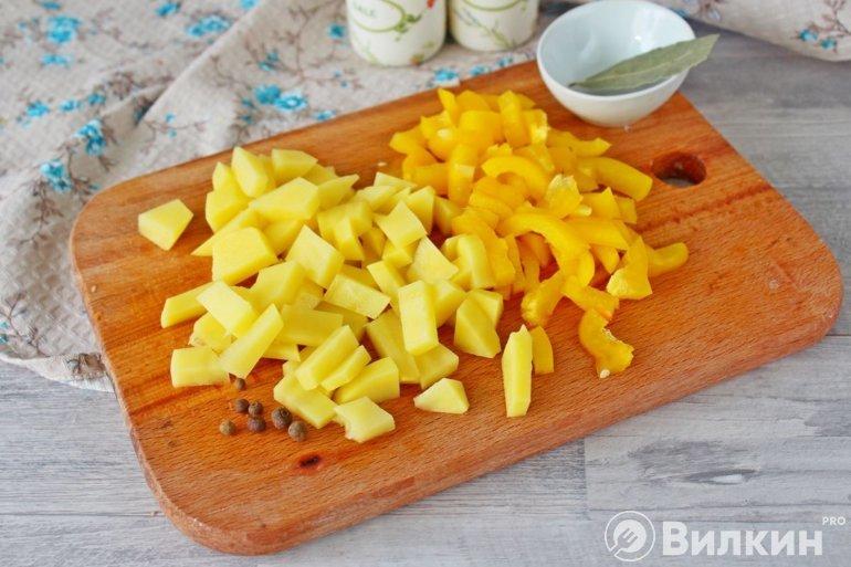 картофель и перец