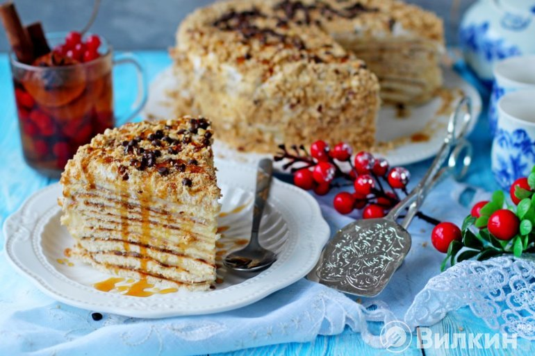 Торт «Минутка» на сковороде