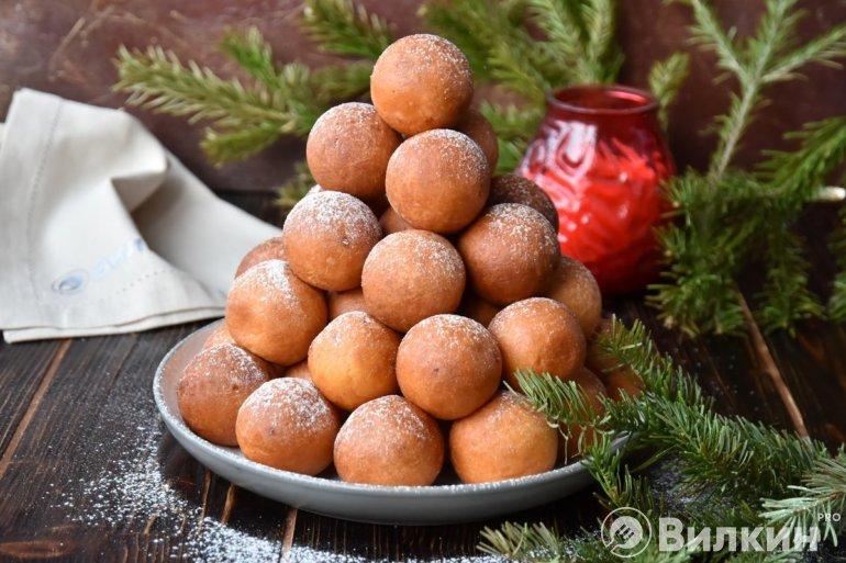 съедобная рождественская елочка на десерт