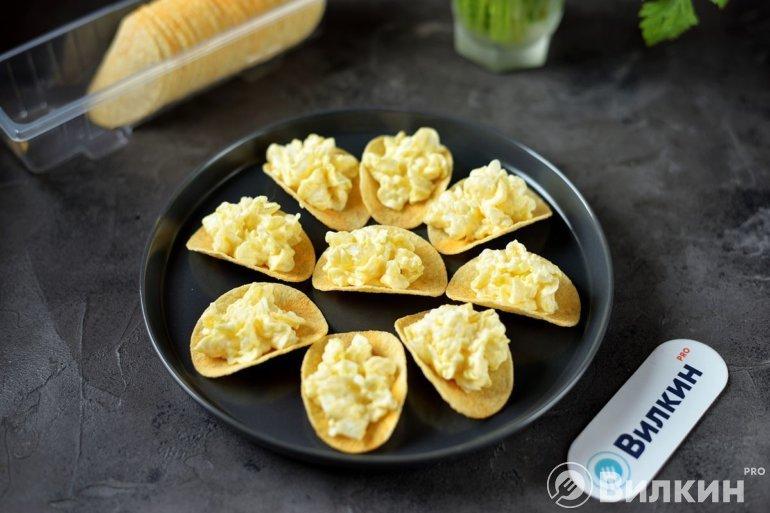 выкладка сырной смеси