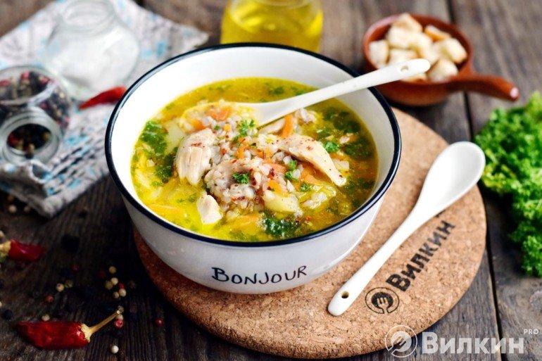 Порция горячего супа