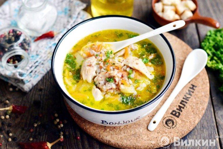 Куриный суп с гречкой