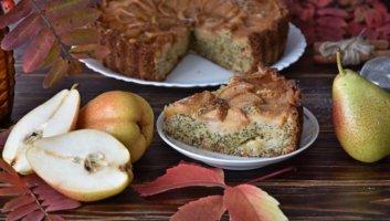 Грушевый пирог с маком