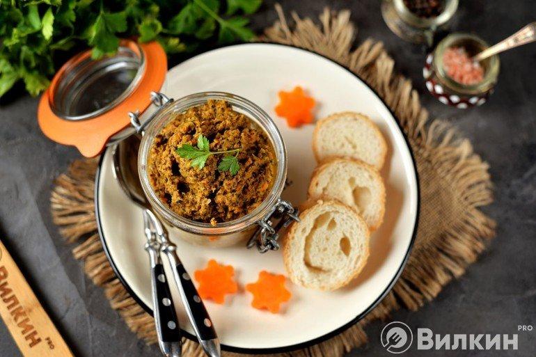 Морковная икра на закуску