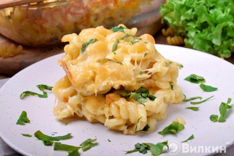 Макаронная запеканка с сыром