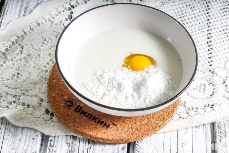 Сливки, яйцо, загуститель