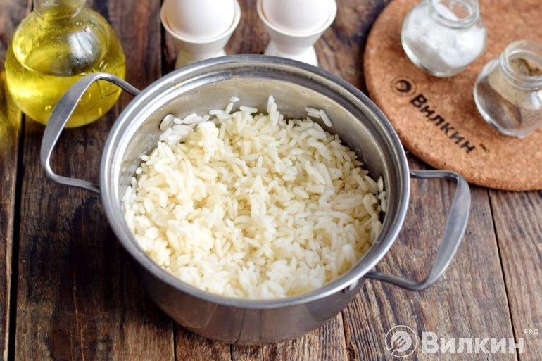 Промывание риса