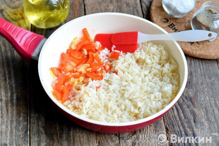 Закладка к рису остальных овощей