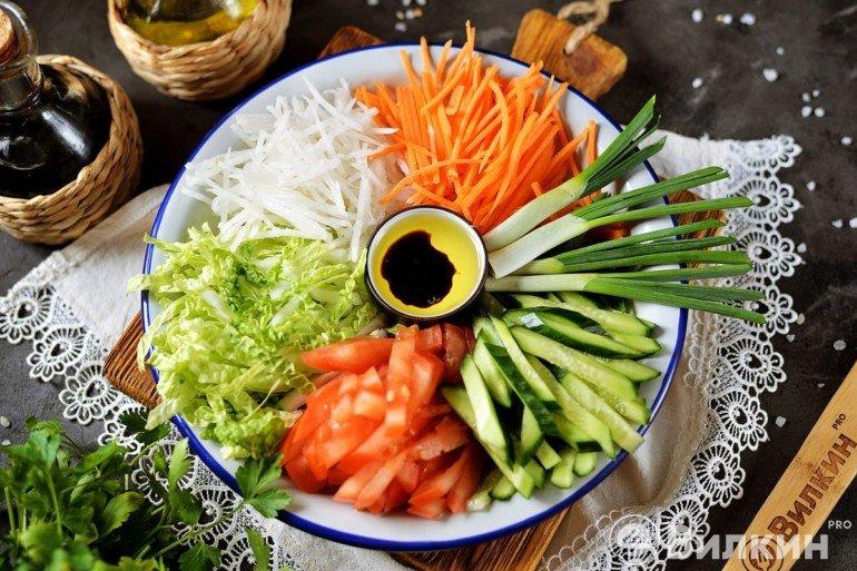 Салат «Козел в огороде»