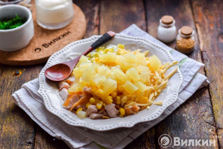 Добавление ананасов