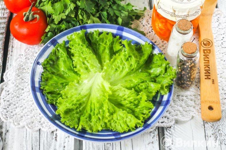 Салатные листья