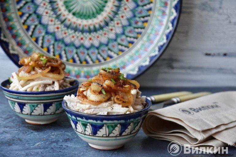Оформление блюда в салатнике