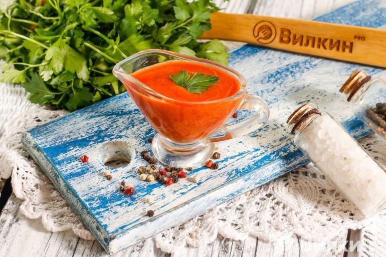 Соус из томатной пасты к шашлыку