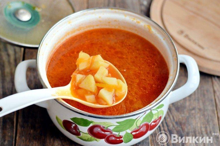 Закладка картошки и зажарки в суп